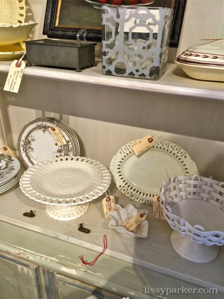 Cream ware in every shape and size