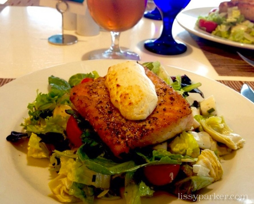 And then there is the salmon salad and popovers with strawberry butter ... Yum