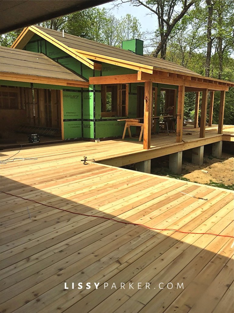 Spanish cedar decking and porch