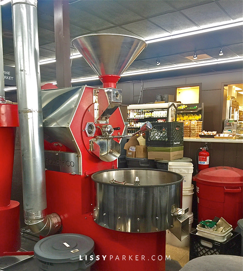 coffee bean roaster in red
