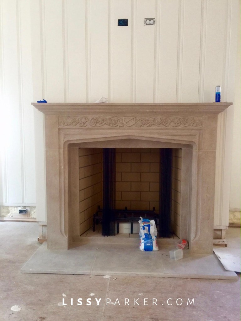 construction update fireplace