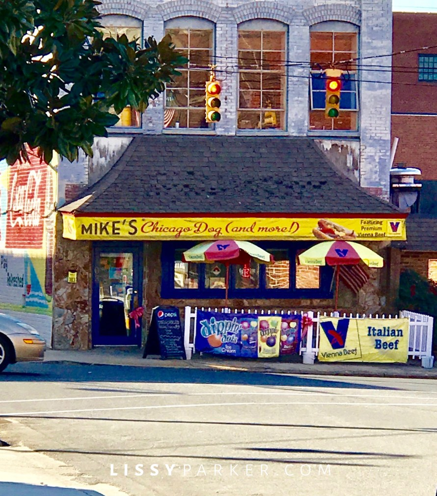 Friday to Monday, Mike's Chicago dogs, Asheboro, N.C., Lissy Parker blog, Chicago style hot dogs, southern dogs,