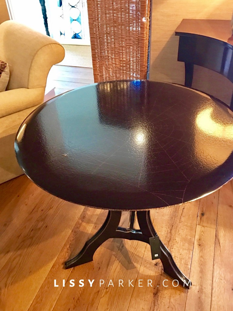 beautiful dark round table