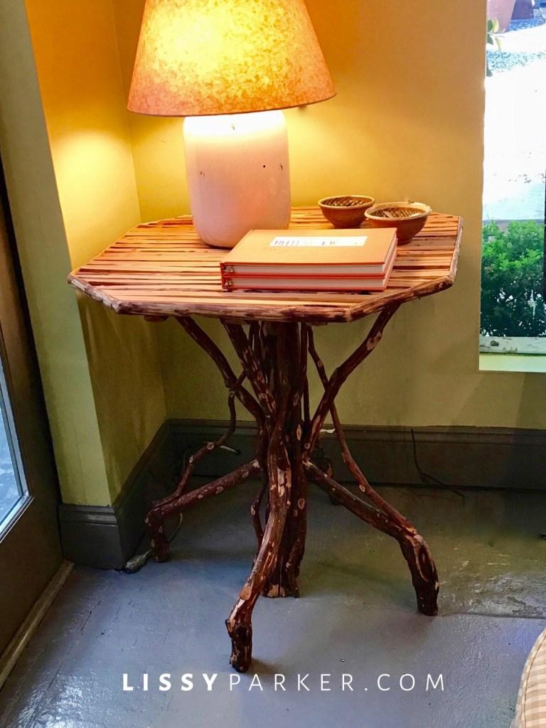 brown twig table