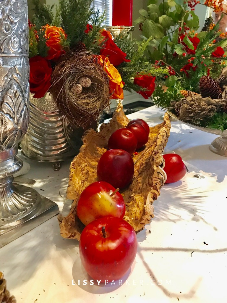 cork and apples