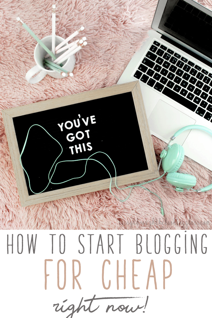 how to start blogging for cheap