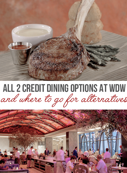 All The Disney Dining Options that Cost 2 Dining Credits – And Their Alternatives