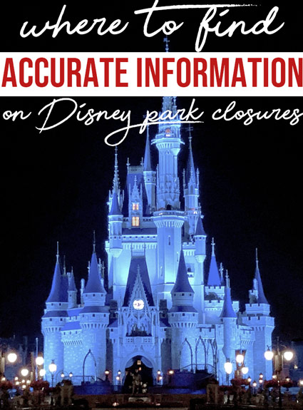 Keeping Up With Disney Park Closures