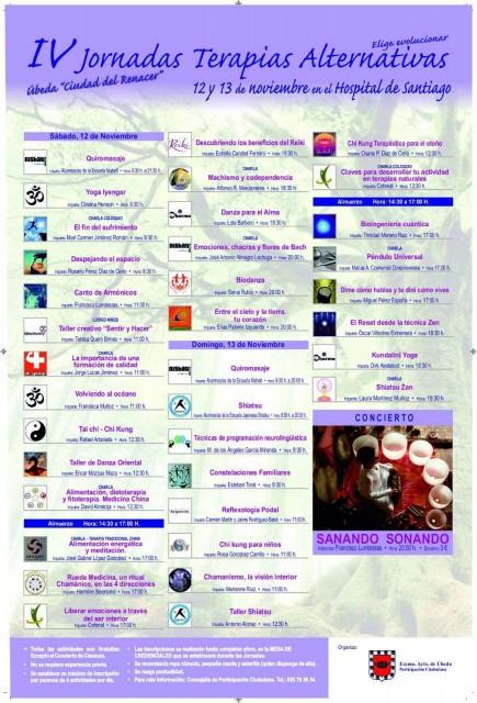 Cartel de las jornadas de terapias alternativas de Úbeda