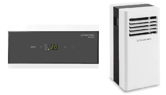 evaluación del aire acondicionado portátil Trotec PAC 2100 X