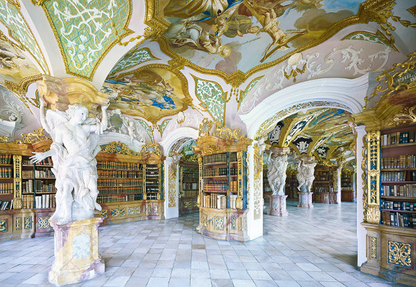 Metten Abbey-Library-Germany-Beautiful-Library-Interior