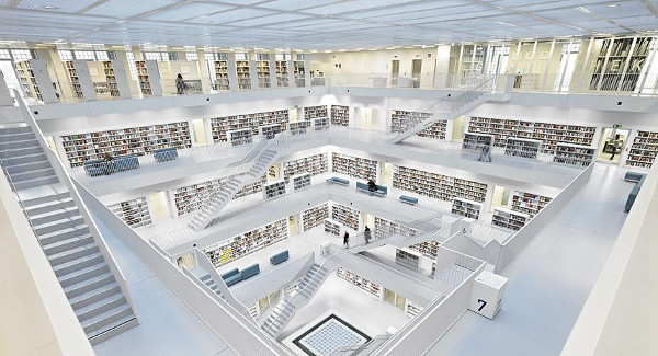 Stuttgart City Library Germany Beautiful Library Interior