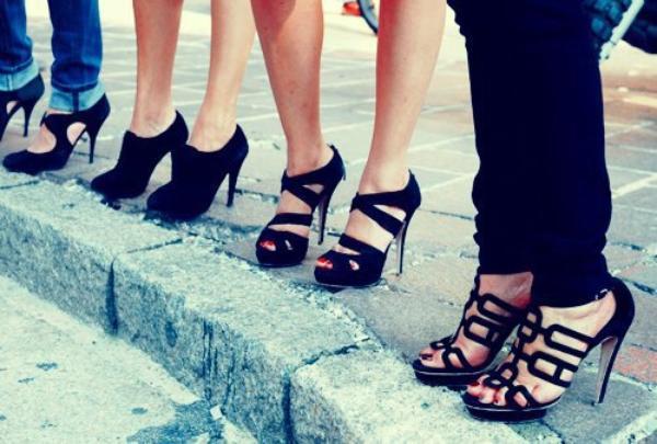 Short Girl Wearing Tall Heels