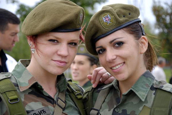 Serbian Beautiful Female Armed Forces