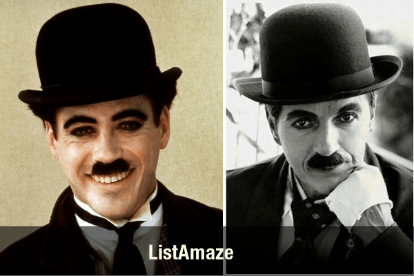Robert Downey Jr as Charlie Chaplin