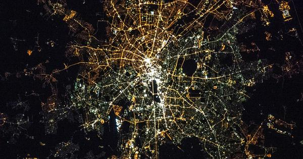 West and East Germany still Look Different From Space Due to Difference in Streetlights