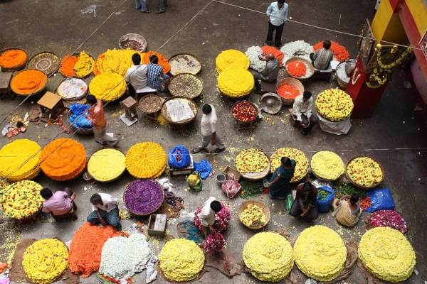 KR Flower Market - Largest in India
