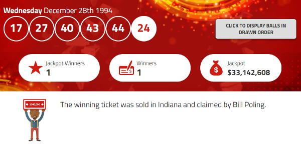 Bill Poling Lottery Winner