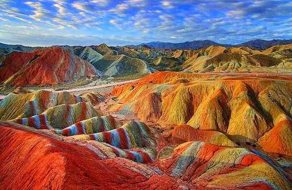 Beautiful Danxia Landform