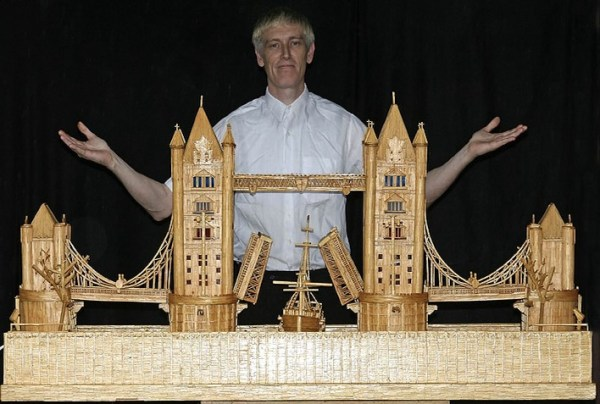 20 Stunning Matchstick Art: towerbridge