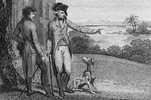 George Washington and his Foxhound