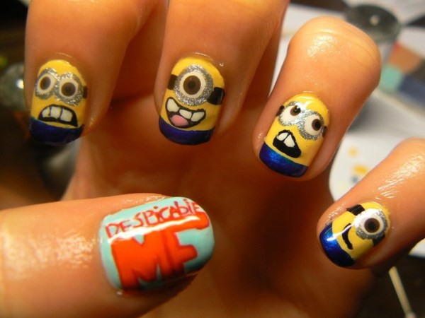 Despicable Me Nail Design