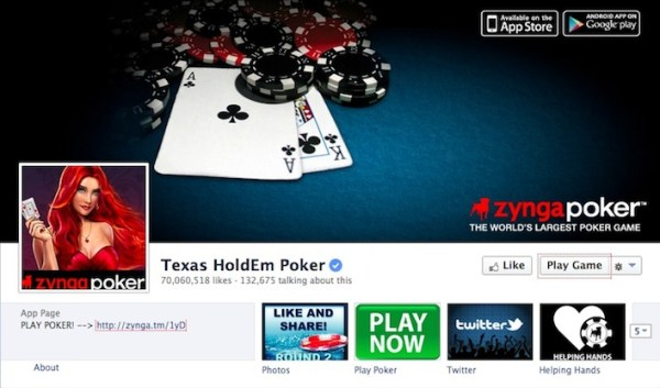 Texas HoldEm Poker Facebook Page