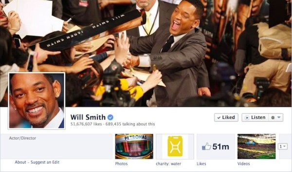 Will Smith Facebook fanpage