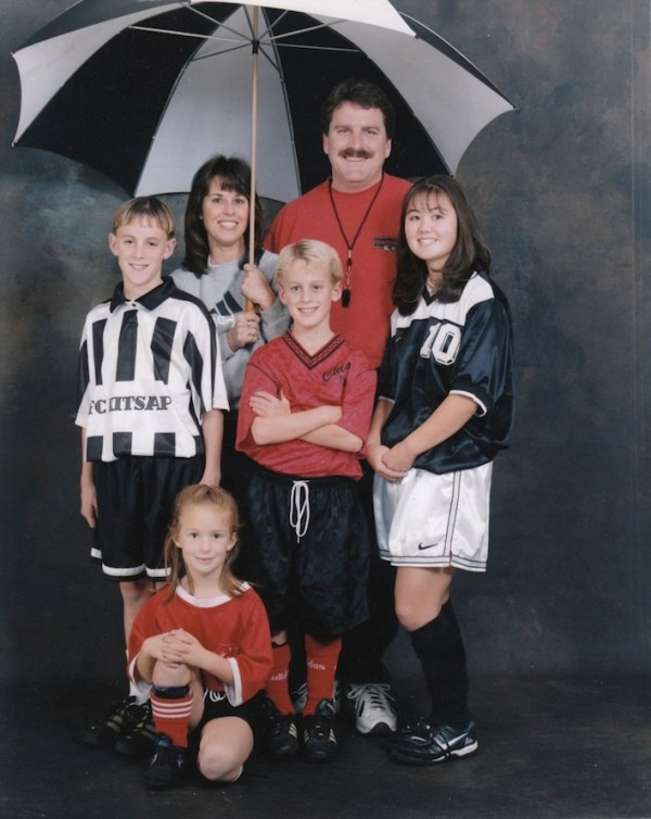 Awkward Soccer family photo