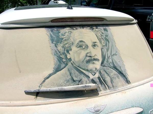 Albert Einstein, Car window art