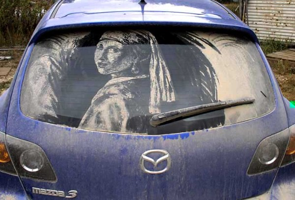Girl with a Pearl earring car art