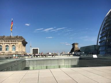 Terraço do prédio do Parlamento Alemão