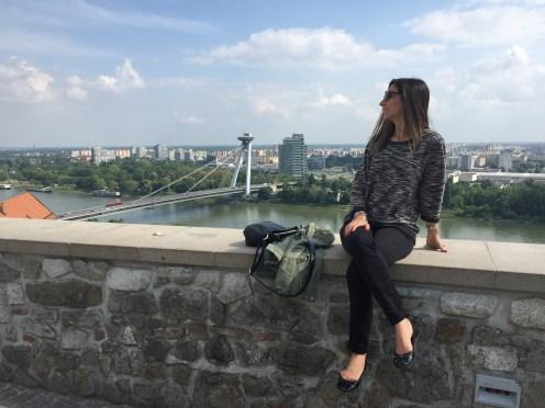 Vista do terraço do Castelo de Bratislava