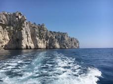 Cassis - visual dos calanques no passeio de barco