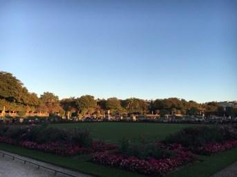 Jardim de Luxemburgo no final do verão