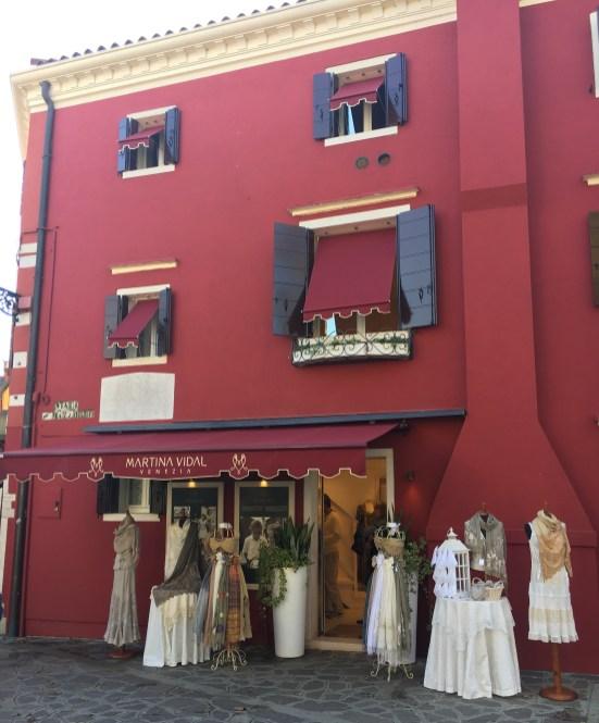 Comércio de renda em Burano