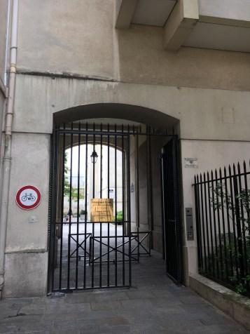 Entrada para o Jardim
