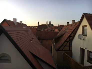 Vista da muralha de Rothenburg