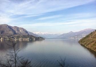 Lago Como visto do ônibus C30 - Bellagio - Como