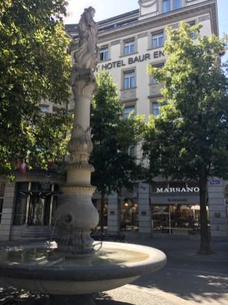 Fontes d'água em Zurich