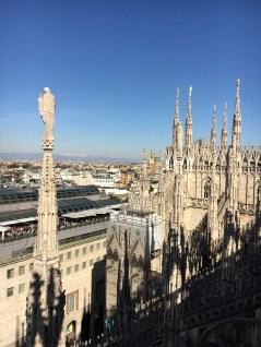 Vista do Terraço Duomo de Milão