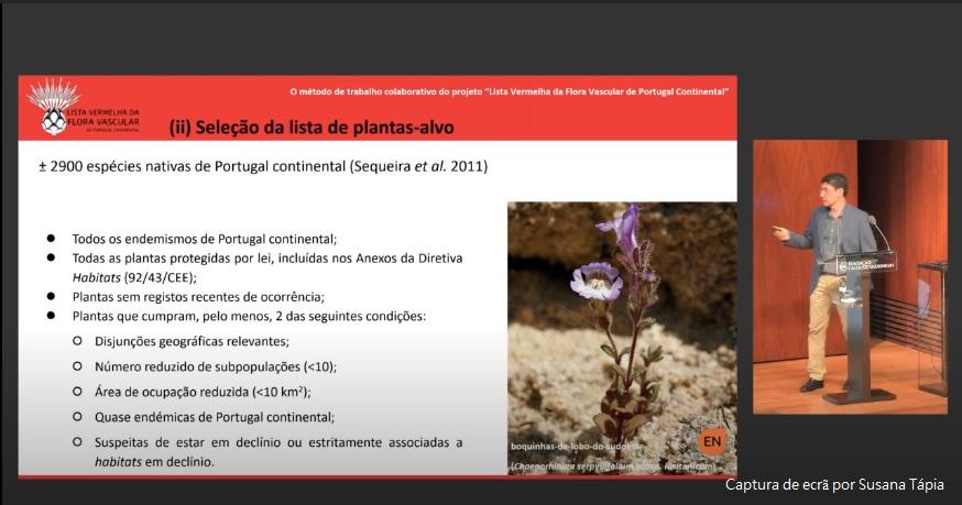 Apresentação de André Carapeto, Coordenador Técnico do projeto (SPBotânica)