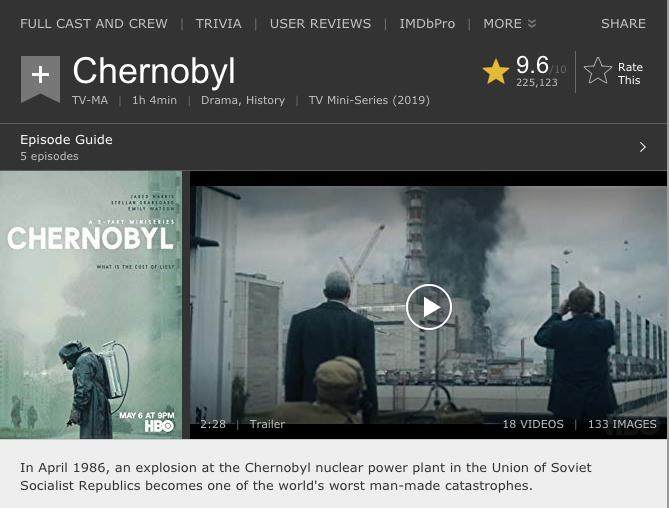 Chernobyl (Çernobil) dizisini hemen izle