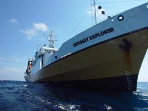 The Odyssey Explorer on its way toward sunken treasure