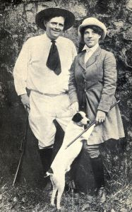 Jack and Charmian London at the ranch, six days before he died at the age of 40