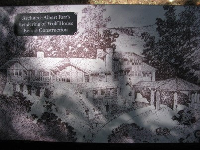 Architectural rendering of Wolf House by Albert J Farr before it was built