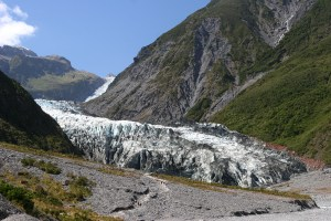 Fox Glacier in New Zealand is getting smaller and smaller
