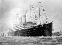 The Kaiserine, at sea