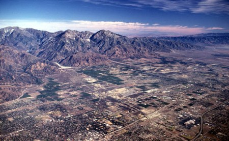 San Gabriel Mountains as we fly our way out of the Los Angeles Basin