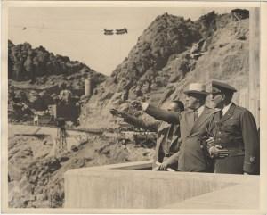 Franklin D. Roosevelt inspecting Hoover Dam before his dedication